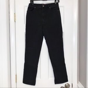 Gloria Vanderbilt black denim bootcut jeans